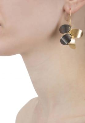 Dual Finish Metal Earrings