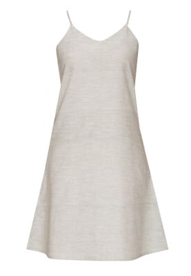 Grey Camisole Above Knee Dress