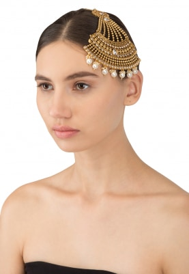 Antique Gold Plated Polki Studded Passa