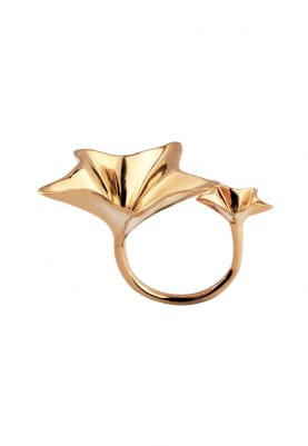 Gold Finish Sound Inspired Ring