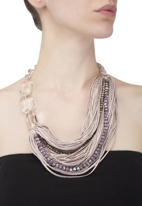 Multi Strand Crystal Threaded Necklace