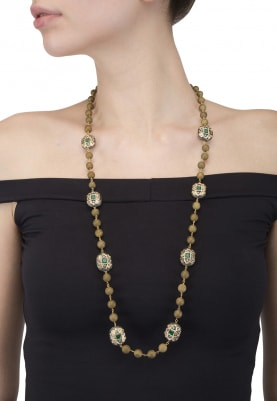 Olive Green and Emerald Necklace
