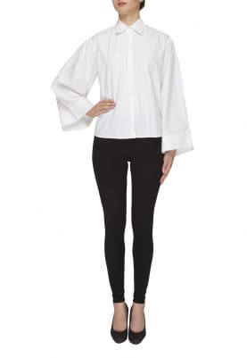 White Classic Long Sleeve Shirt