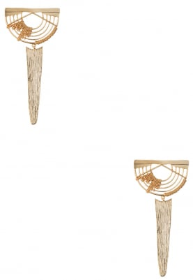 Gold Plated Edged Dangler Earrings