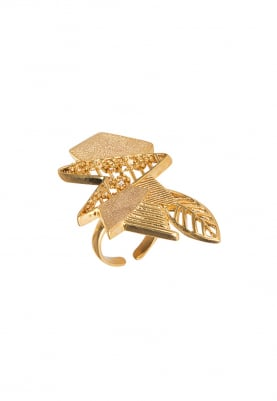 Gold Plated Abstract Ring