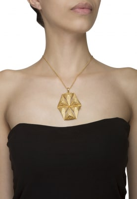 Gold Finish Star Necklace
