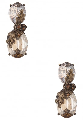 18k Gold Plated Brown Swarovski Crystal Earrings