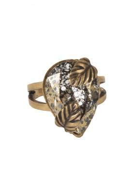 18k Gold Plated Swarovski Crystal Studded Ring