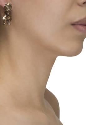 18k Gold Plated Brown Swarovski Crystal Earrings