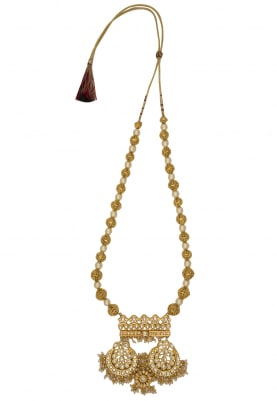 22k Gold Finish Temple Ball Necklace