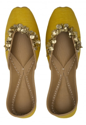 Sunkissed Jutti with Embellished Jhallar