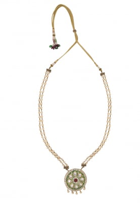 Gold Plated Kundan Studded Statement Necklace