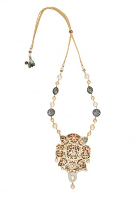 Gold Plated Kundan Studded Layered Necklace