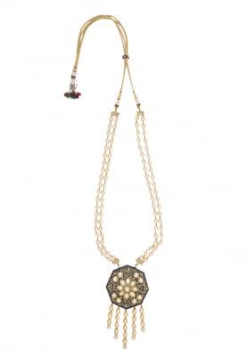 Gold Plated Semi Precious Stone Pendant Necklace