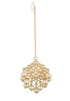 Gold Plated Pearl Bunch Ethnic Nath