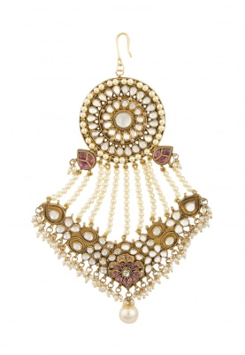 Gold Finish Kundan Studded Traditional Passa