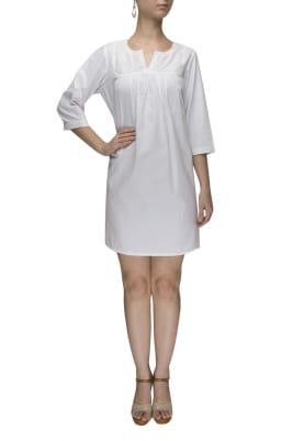 White Quilt Dress