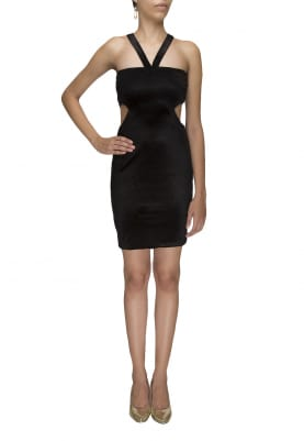 The Little Black Dress with Waist Cut