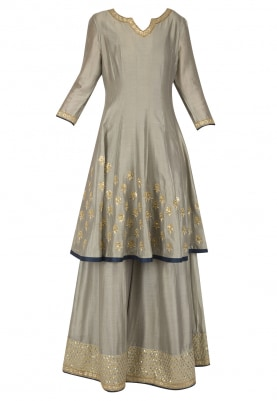 Mud Embroidered Anarkali Set